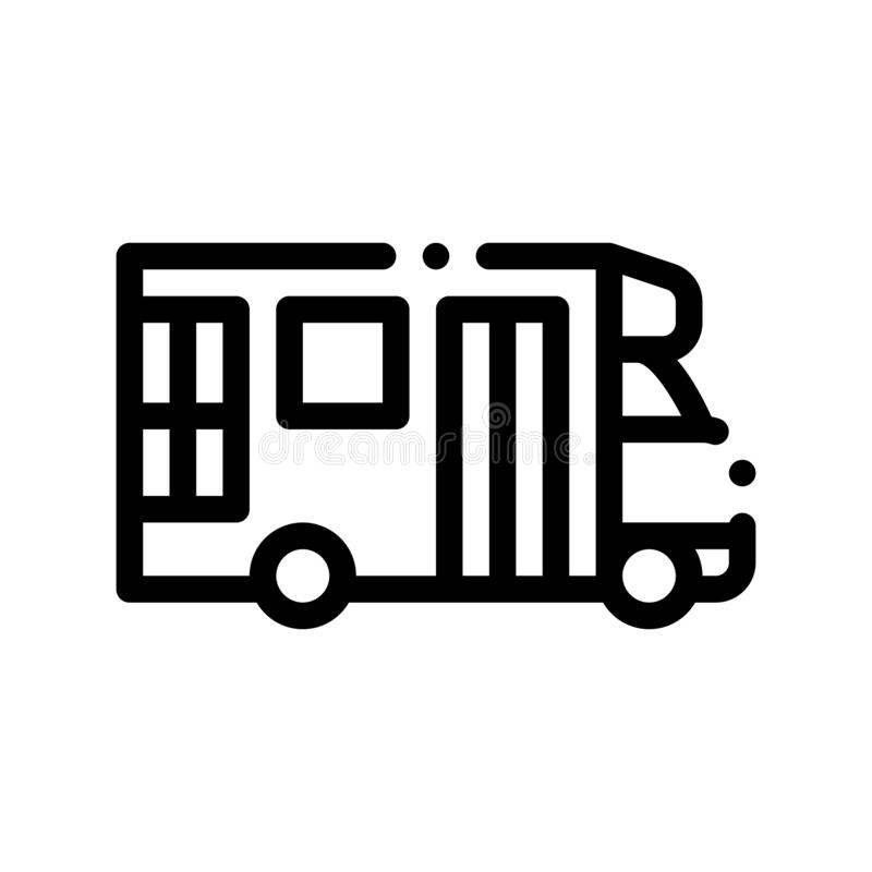 Icona del segno di vettore di Paratransit di trasporto pubblico illustrazione di stock