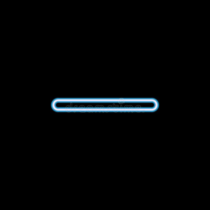 icona del segno meno nello stile al neon Uno dell'icona della raccolta di web può essere usato per UI, UX illustrazione di stock