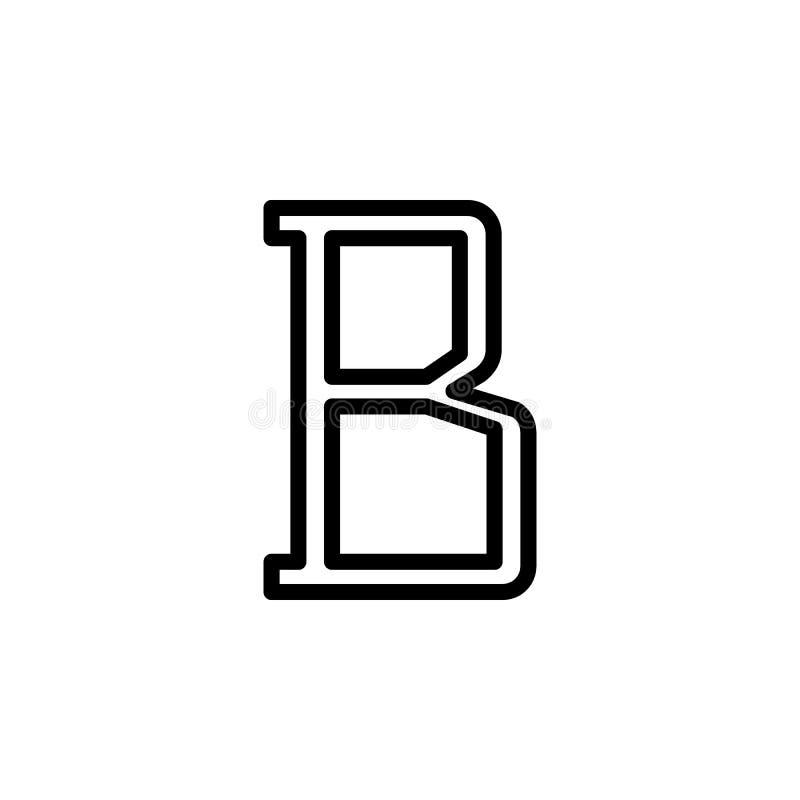 icona del segno del testo in grassetto Elemento delle icone minimalistic per i apps mobili di web e di concetto Linea sottile ico royalty illustrazione gratis