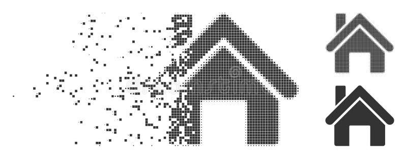 Icona del semitono del pixel spezzettata Camera royalty illustrazione gratis