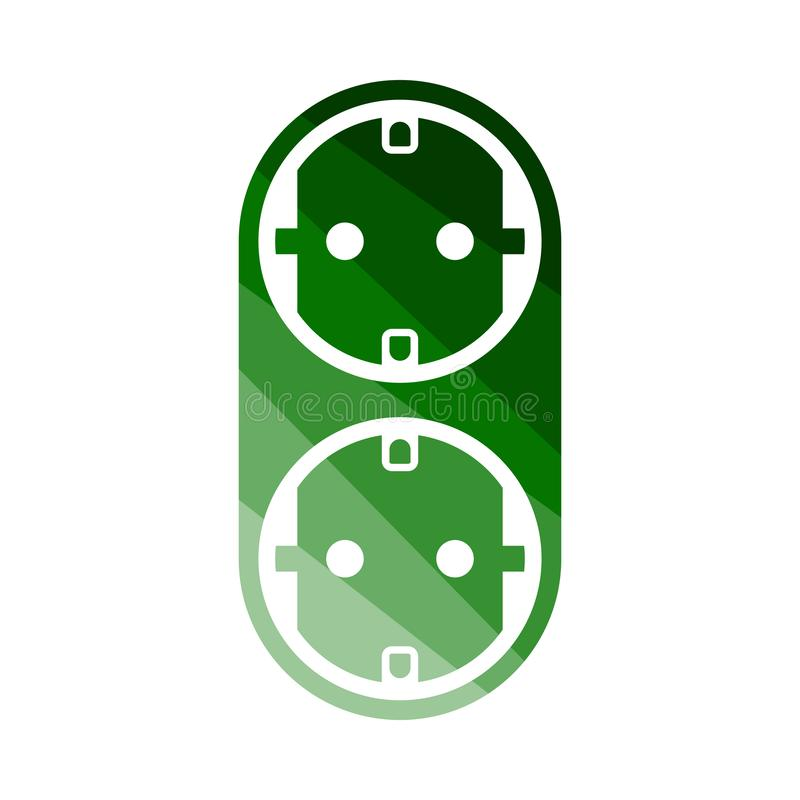 Icona del separatore di CA illustrazione vettoriale