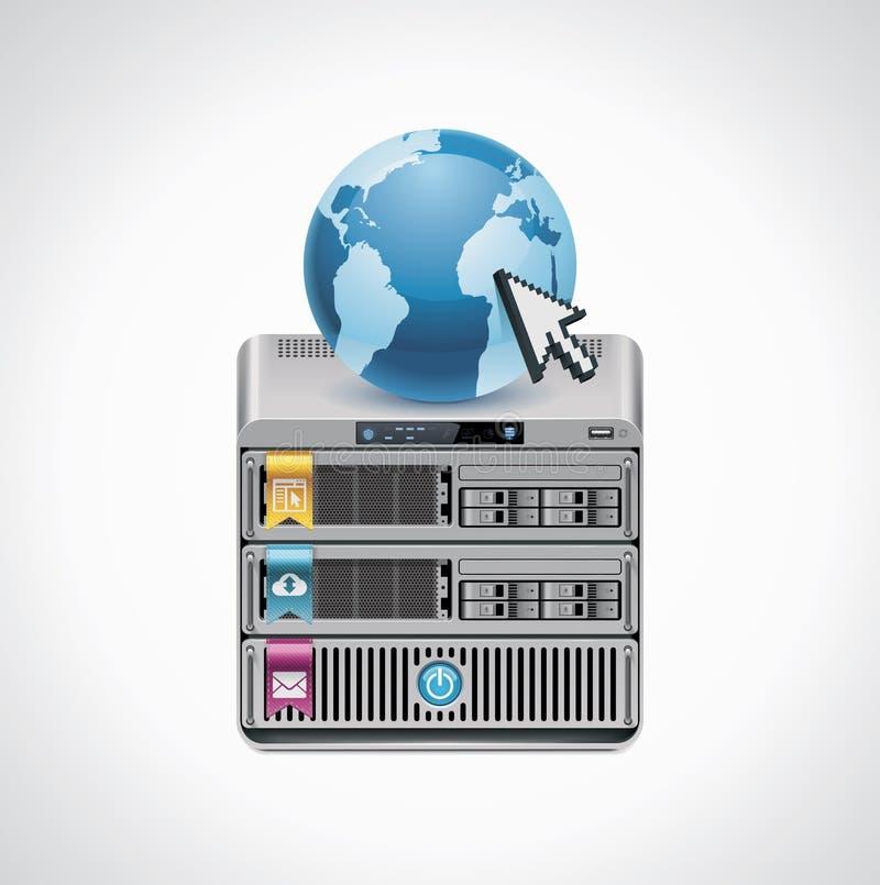 Icona del server di vettore royalty illustrazione gratis
