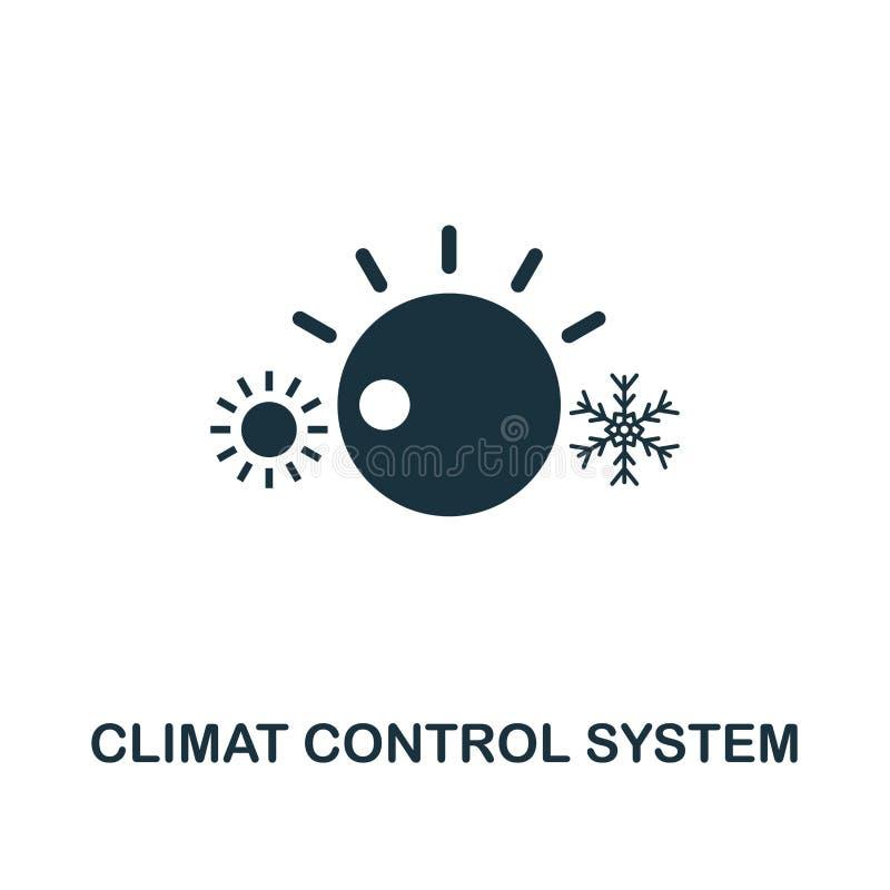 Icona del sistema di controllo di Climat Progettazione premio di stile dalla raccolta dell'icona di urbanismo UI e UX Sistema di  illustrazione vettoriale