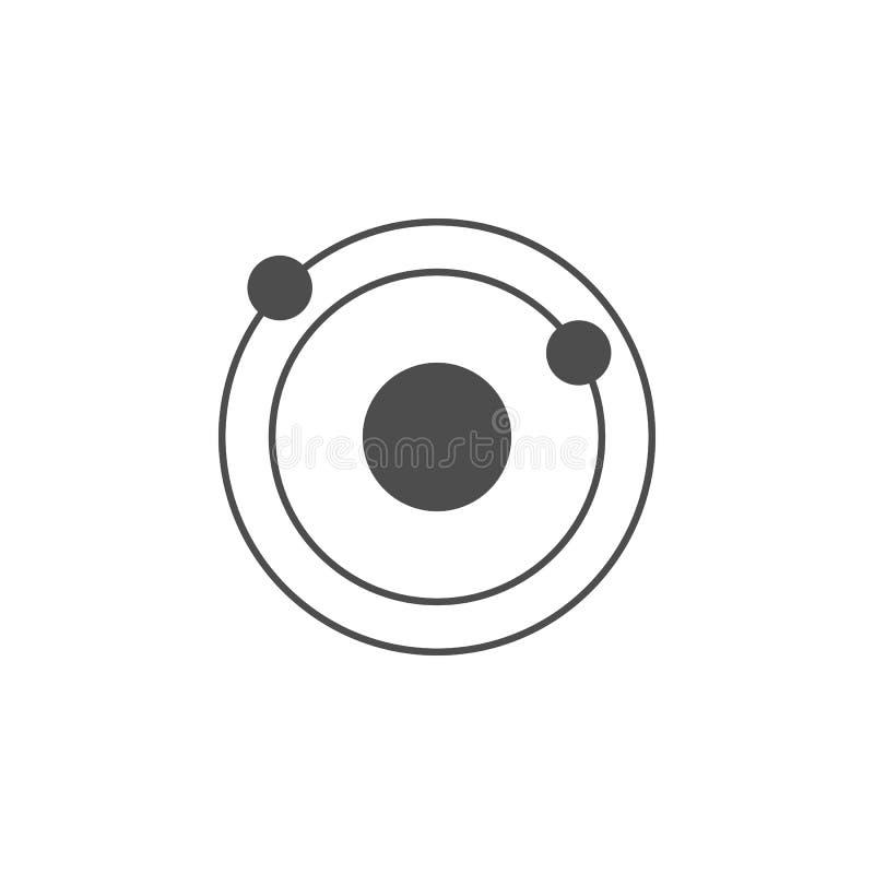Icona del sistema solare Elementi dell'icona di web Icona premio di progettazione grafica di qualità Segni ed icona per i siti We illustrazione di stock
