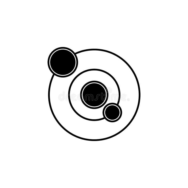 Icona del sistema solare Elemento delle icone dello spazio Icona premio di progettazione grafica di qualità Segni, icona della ra illustrazione vettoriale