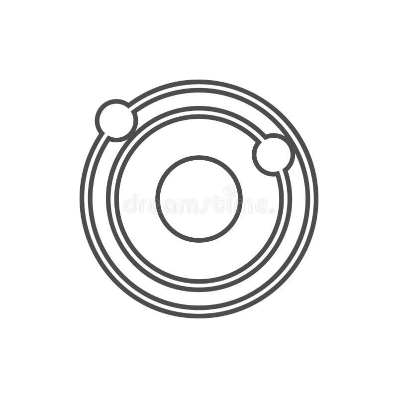 Icona del sistema solare Elemento di sicurezza cyber per il concetto e l'icona mobili dei apps di web Linea sottile icona per pro royalty illustrazione gratis