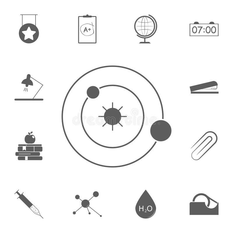 Icona del sistema solare Insieme dettagliato delle icone di istruzione Segno premio di progettazione grafica di qualità Una delle royalty illustrazione gratis