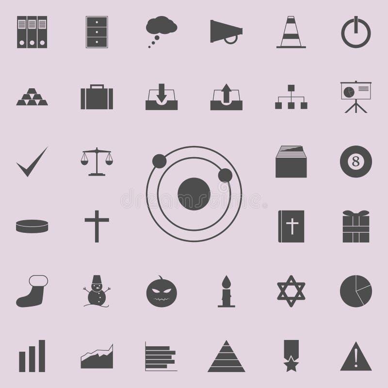 Icona del sistema solare Insieme dettagliato delle icone minimalistic Segno premio di progettazione grafica di qualità Una delle  royalty illustrazione gratis