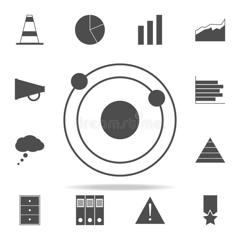 Icona del sistema solare insieme universale delle icone di web per il web ed il cellulare illustrazione di stock
