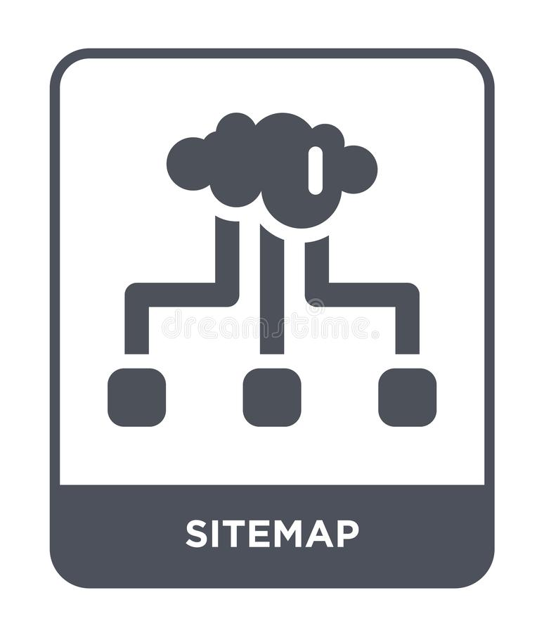 icona del sitemap nello stile d'avanguardia di progettazione icona del sitemap isolata su fondo bianco simbolo piano semplice e m illustrazione vettoriale
