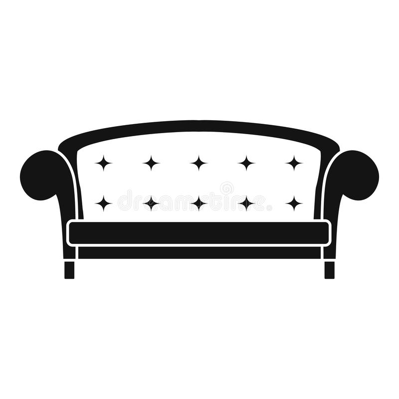 Icona del sofà della corona, stile semplice royalty illustrazione gratis