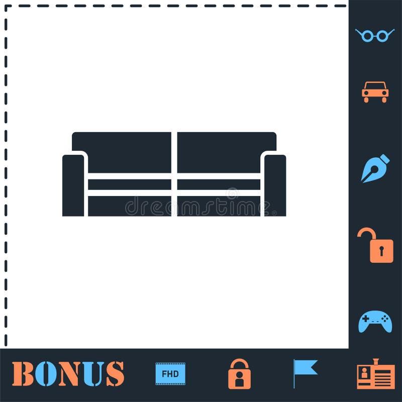 Icona del sof? piana illustrazione di stock