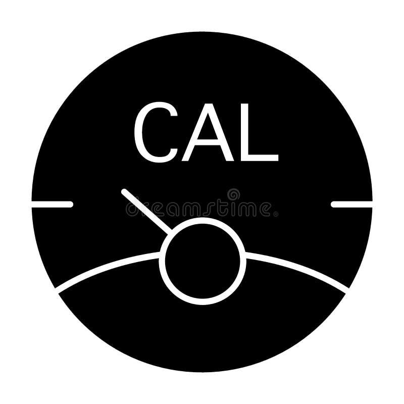 Icona del solido della scala di caloria Illustrazione di vettore della scala di forma fisica isolata su bianco Progettazione di s illustrazione vettoriale