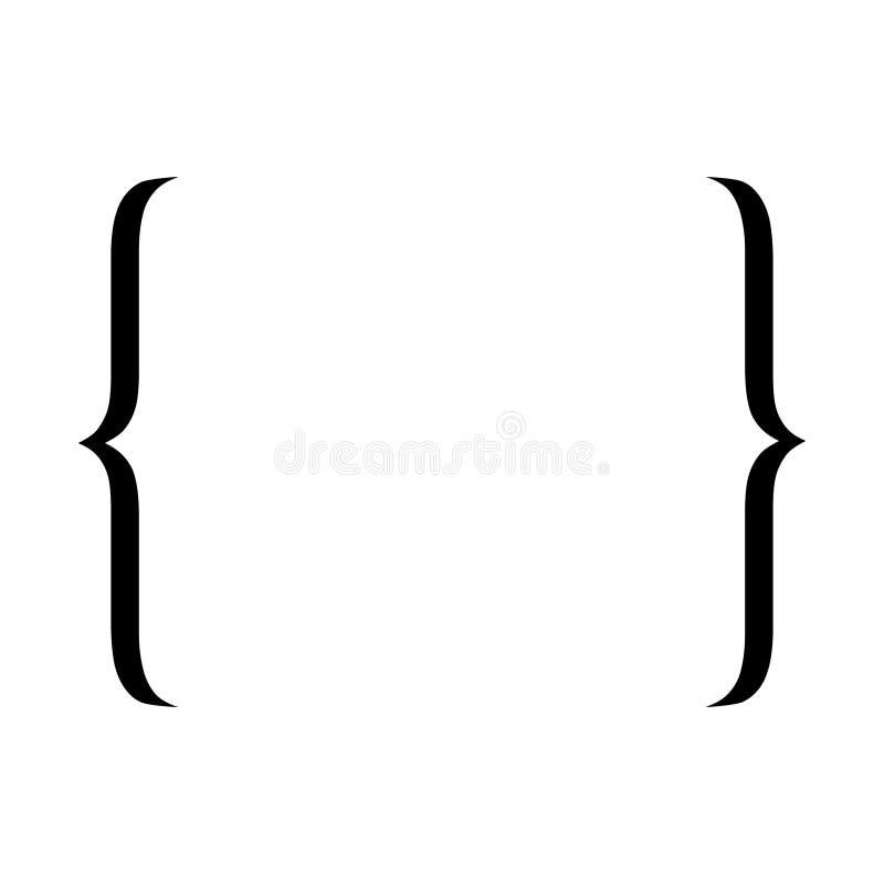 Icona del sostegno Simbolo di citazione royalty illustrazione gratis