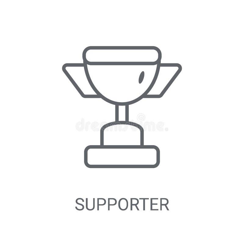 Icona del sostenitore Concetto d'avanguardia di logo del sostenitore su backgroun bianco illustrazione vettoriale