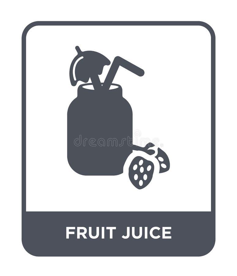 icona del succo di frutta nello stile d'avanguardia di progettazione icona del succo di frutta isolata su fondo bianco icona di v illustrazione vettoriale