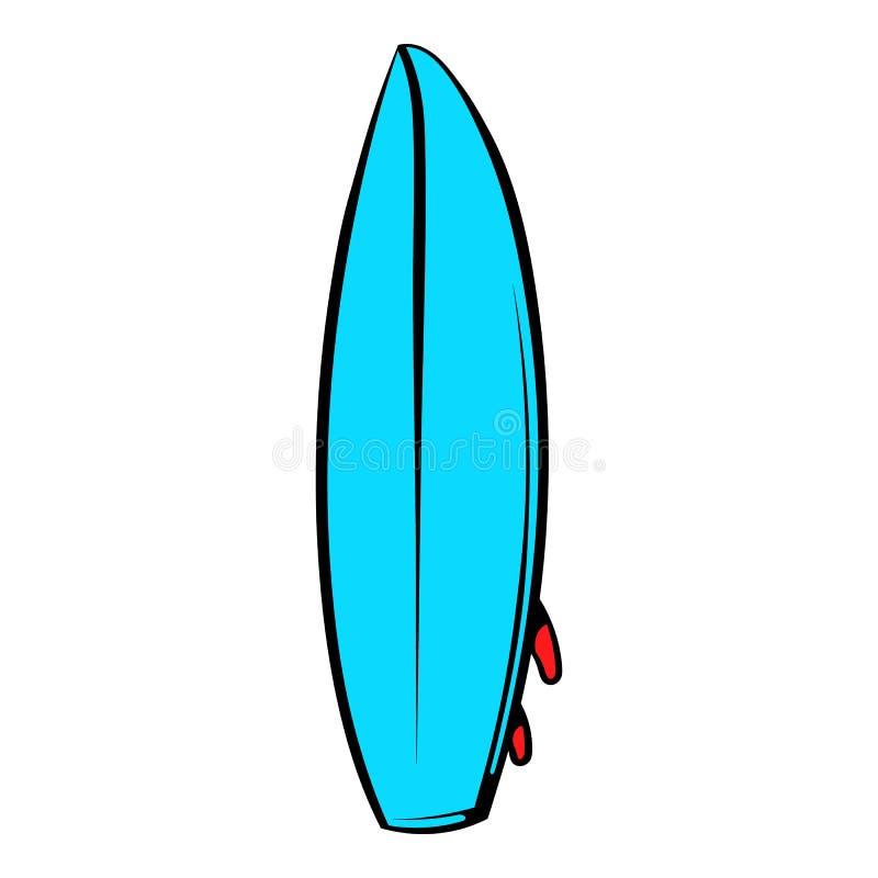 Icona del surf, fumetto dell'icona royalty illustrazione gratis