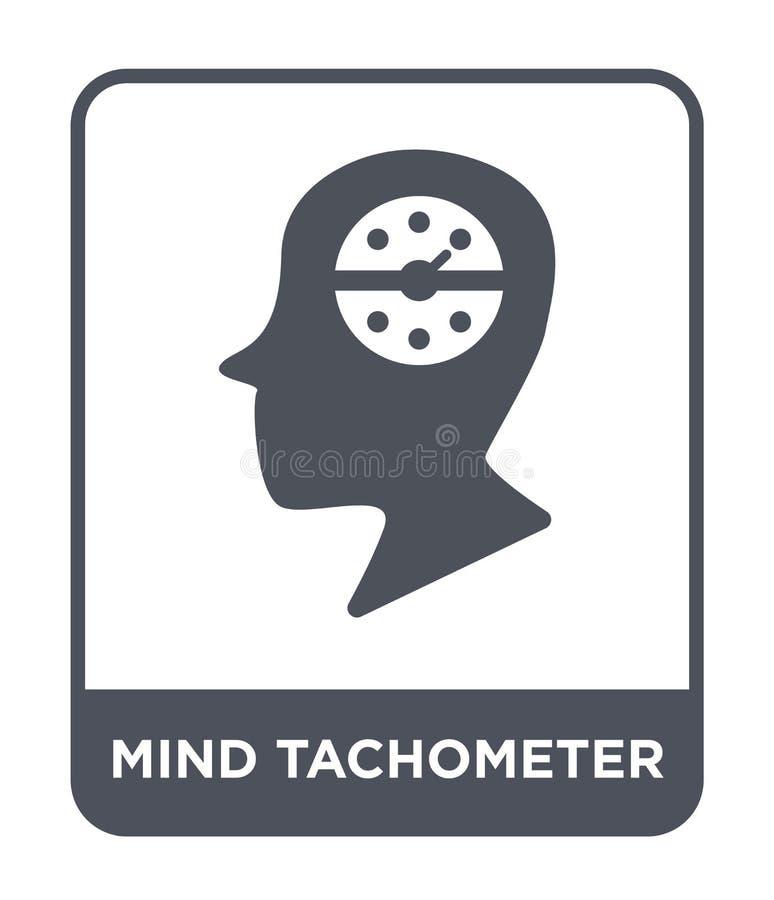 icona del tachimetro di mente nello stile d'avanguardia di progettazione icona del tachimetro di mente isolata su fondo bianco ic illustrazione vettoriale
