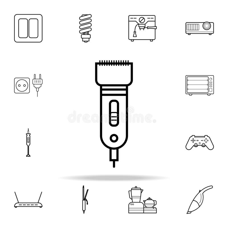 Icona del tagliatore Insieme universale delle icone degli apparecchi per il web ed il cellulare royalty illustrazione gratis