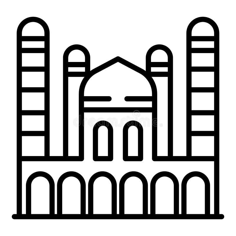 Icona del Taj Mahal, stile del profilo illustrazione vettoriale