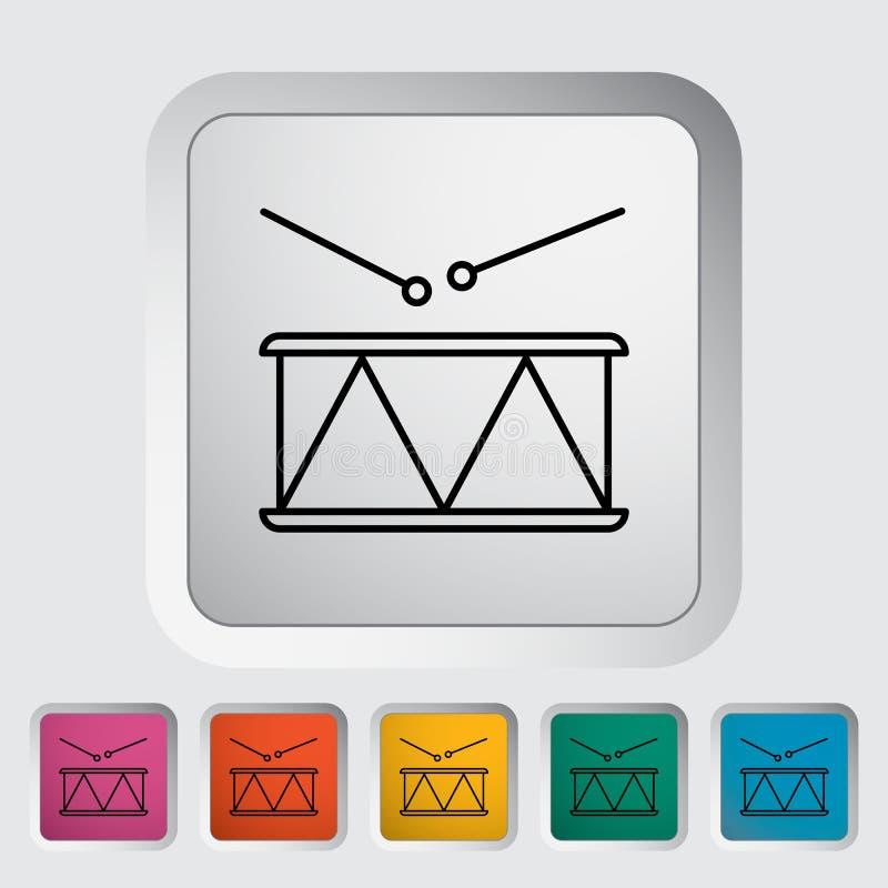 Icona del tamburo illustrazione vettoriale