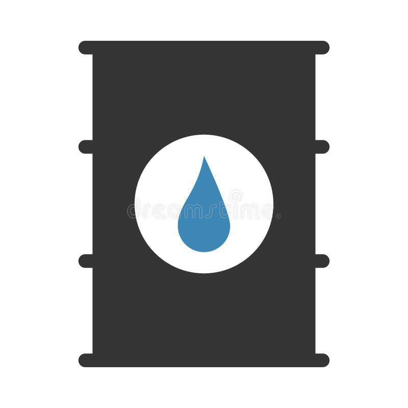 Icona del tamburo dell'olio royalty illustrazione gratis