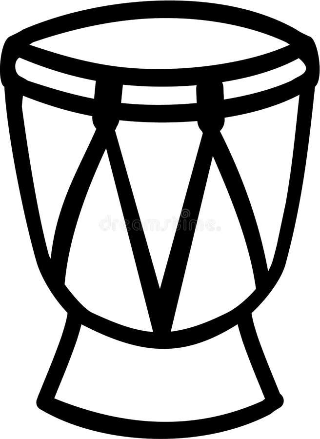 Icona del tamburo della conga illustrazione di stock