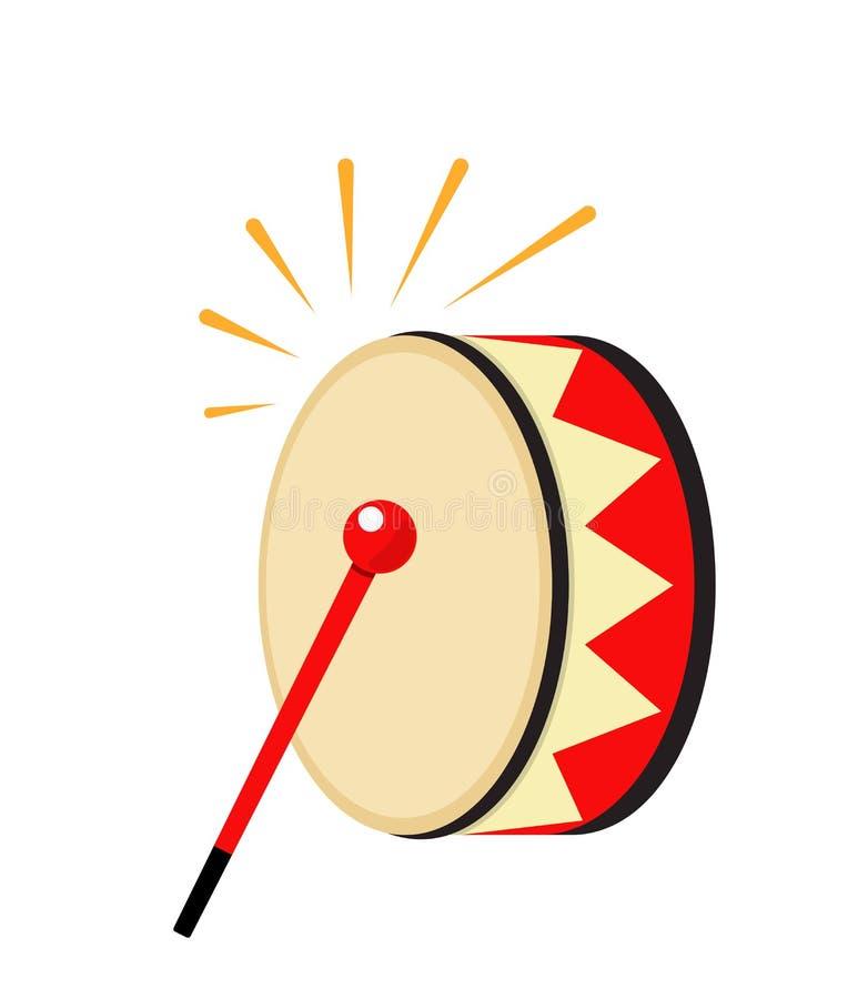 Icona del tamburo del Ramadan dell'elemento di festa Illustrazione piana isolata royalty illustrazione gratis