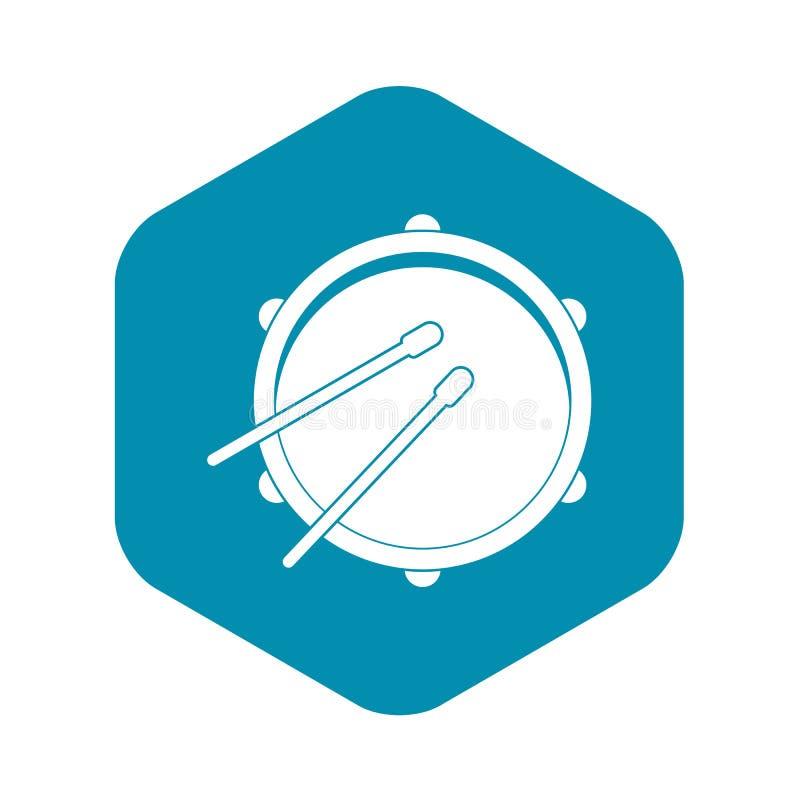 Icona del tamburo, stile semplice illustrazione vettoriale