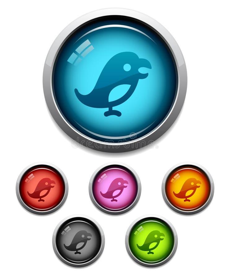 Icona del tasto dell'uccello royalty illustrazione gratis