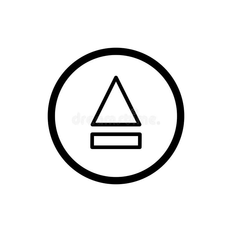 Icona del tasto di espulsione icona semplice di vettore del tasto di espulsione del profilo Su fondo bianco royalty illustrazione gratis