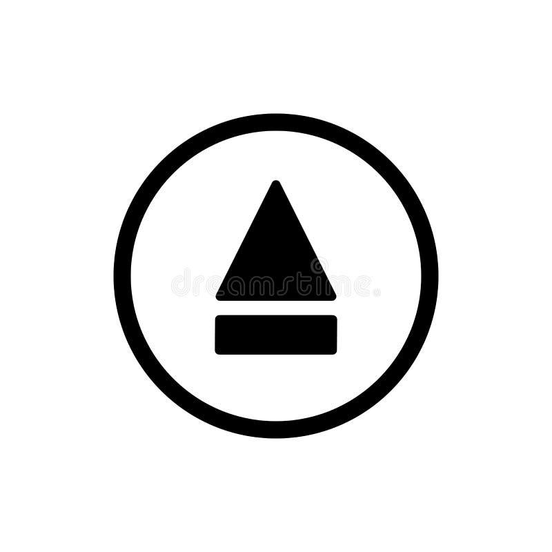 Icona del tasto di espulsione icona solida di vettore del tasto di espulsione del profilo Su fondo bianco illustrazione di stock
