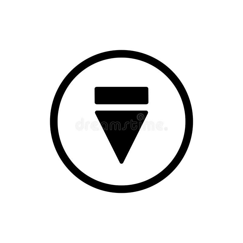 Icona del tasto di espulsione icona solida di vettore del tasto di espulsione del profilo Su fondo bianco royalty illustrazione gratis