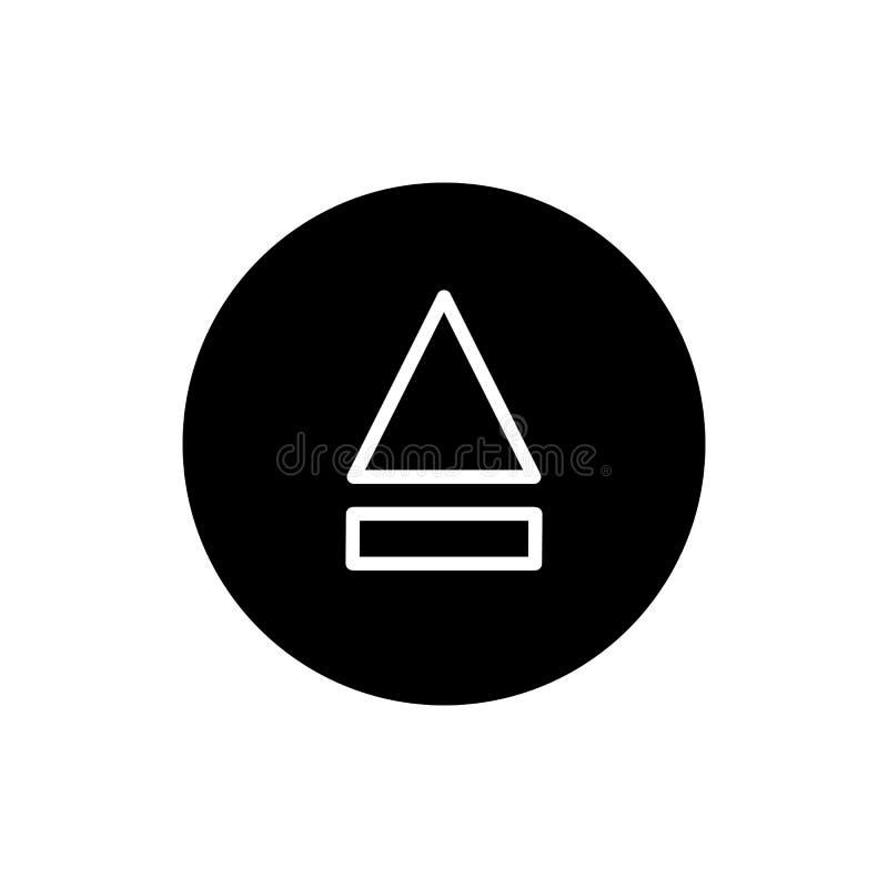 Icona del tasto di espulsione icona solida semplice di vettore del tasto di espulsione Su fondo bianco royalty illustrazione gratis