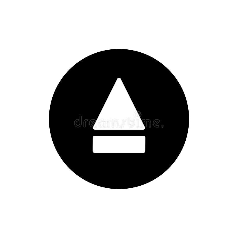 Icona del tasto di espulsione icona solida semplice di vettore del tasto di espulsione Su fondo bianco illustrazione vettoriale