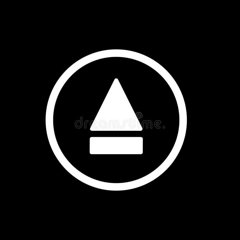 Icona del tasto di espulsione icona solida semplice di vettore del tasto di espulsione Su fondo nero royalty illustrazione gratis