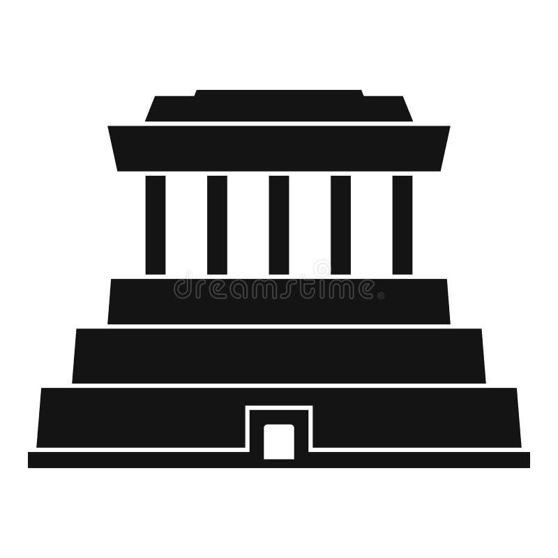 Icona del tempio di Taiwan, stile semplice illustrazione di stock