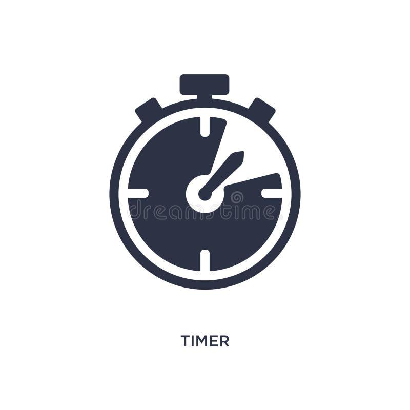 icona del temporizzatore su fondo bianco Illustrazione semplice dell'elemento dal concetto dell'hockey illustrazione di stock