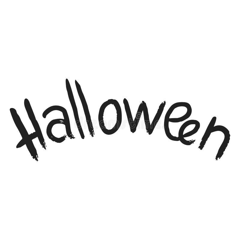 Icona del testo di Halloween, stile semplice illustrazione di stock