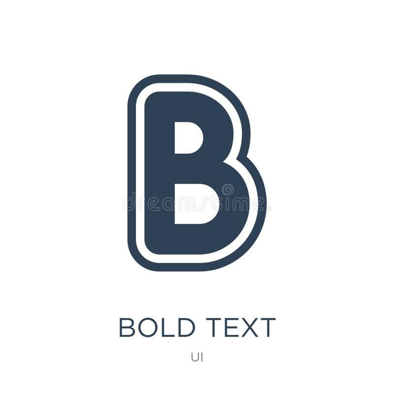 icona del testo in grassetto nello stile d'avanguardia di progettazione icona del testo in grassetto isolata su fondo bianco pian illustrazione di stock