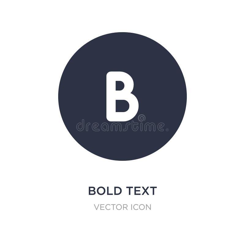 icona del testo in grassetto su fondo bianco Illustrazione semplice dell'elemento dal concetto di UI royalty illustrazione gratis