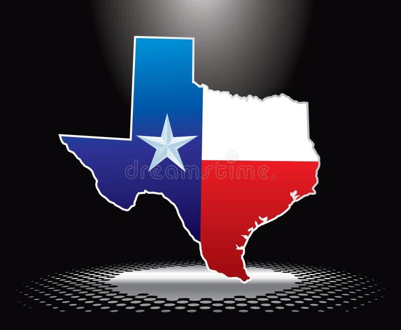 Icona del Texas sotto il riflettore royalty illustrazione gratis