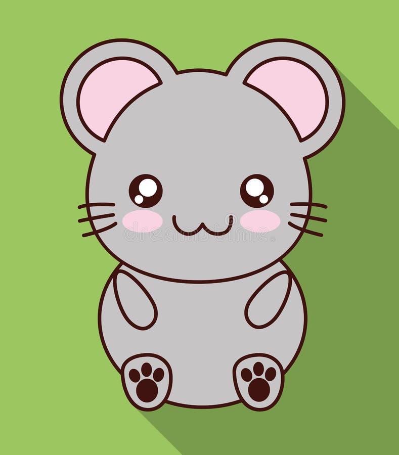 Icona del topo di Kawaii Animale sveglio Grafico di vettore royalty illustrazione gratis