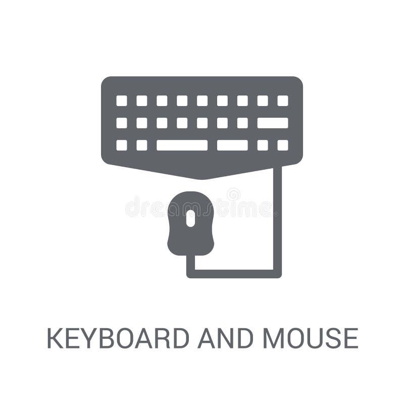 Icona del topo e della tastiera  illustrazione vettoriale