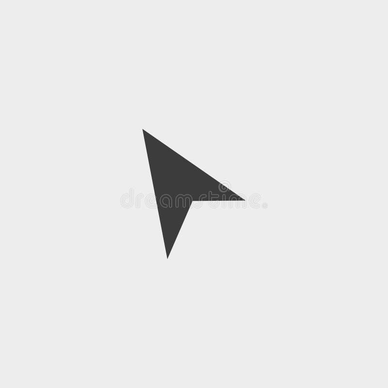 Icona del topo in una progettazione piana nel colore nero Illustrazione EPS10 di vettore royalty illustrazione gratis