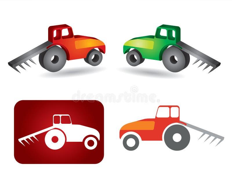 Icona del trattore illustrazione di stock
