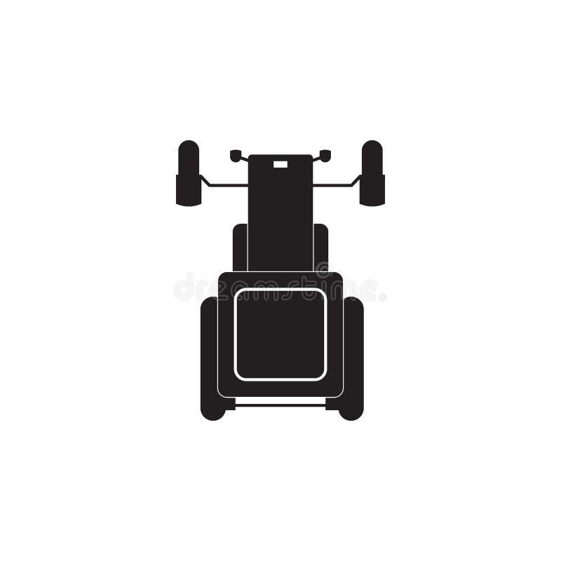 Icona del trattore Elemento della vista di trasporto da sopra l'icona Uno dell'icona delle collezioni per progettazione e svilupp illustrazione di stock