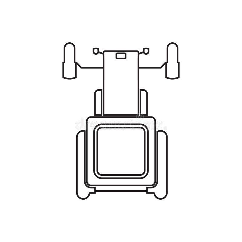 Icona del trattore Elemento della vista di trasporto da sopra per il concetto e l'icona mobili dei apps di web Profilo, linea sot royalty illustrazione gratis