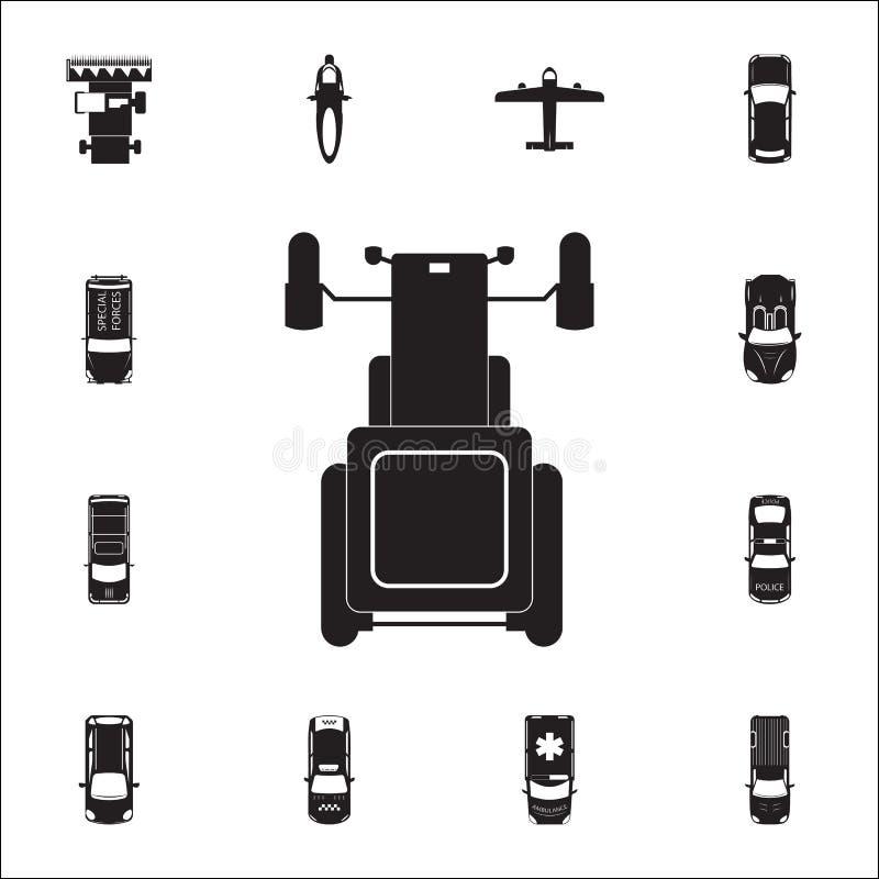 Icona del trattore Insieme dettagliato della vista di trasporto da sopra le icone Segno premio di progettazione grafica di qualit royalty illustrazione gratis