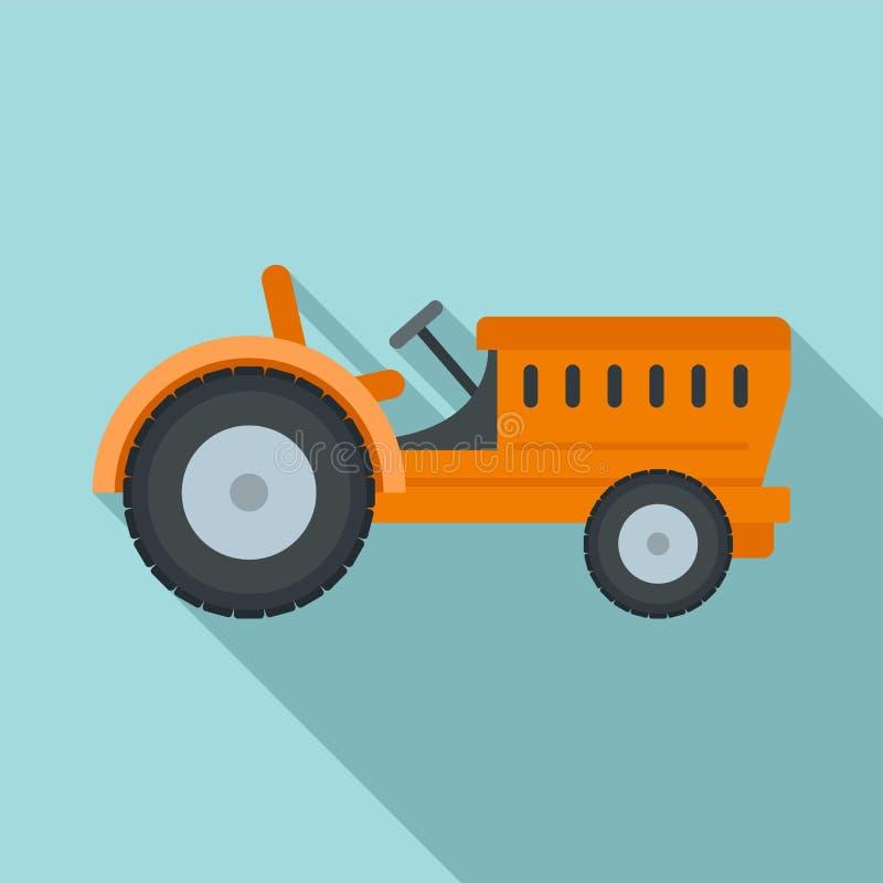 Icona del trattore, stile piano royalty illustrazione gratis